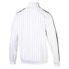 Thumbnail 4 of Archive Pinstripe T7 Men's Track Jacket, Puma White-AOP, medium