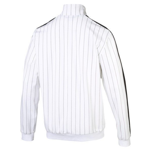 Archive Pinstripe T7 Men's Track Jacket, Puma White-AOP, large