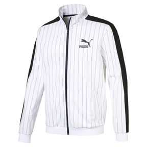 Thumbnail 1 of Archive Pinstripe T7 Men's Track Jacket, Puma White-AOP, medium