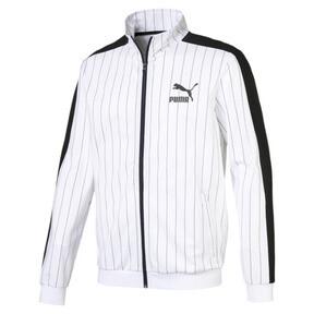Thumbnail 1 of Pinstripe Men's T7 Track Jacket, Puma White-AOP, medium