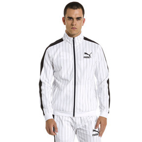 Thumbnail 2 of Archive Pinstripe T7 Men's Track Jacket, Puma White-AOP, medium