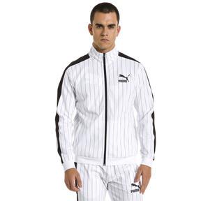 Thumbnail 2 of Pinstripe Men's T7 Track Jacket, Puma White-AOP, medium