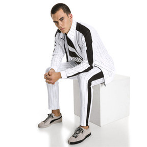 Thumbnail 5 of Archive Pinstripe T7 Men's Track Jacket, Puma White-AOP, medium