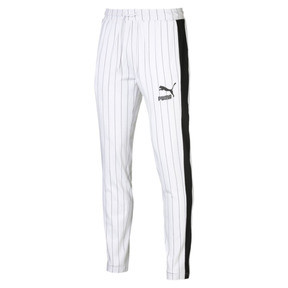 Thumbnail 4 of Pinstripe Men's T7 Track Pants, Puma White-AOP, medium