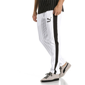 Thumbnail 2 of Archive Pinstripe T7 Men's Track Pants, Puma White-AOP, medium