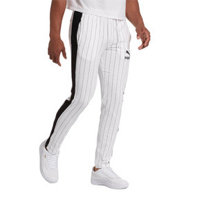 Thumbnail 1 of Pinstripe Men's T7 Track Pants, Puma White-AOP, medium