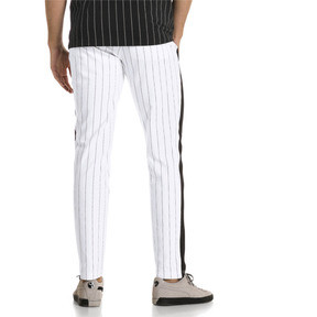 Thumbnail 3 of Archive Pinstripe T7 Men's Track Pants, Puma White-AOP, medium