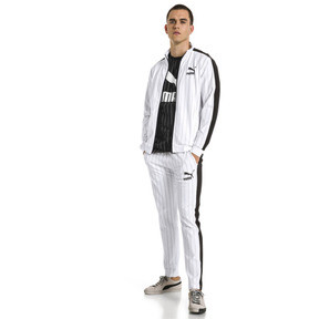 Thumbnail 3 of Pinstripe Men's T7 Track Pants, Puma White-AOP, medium