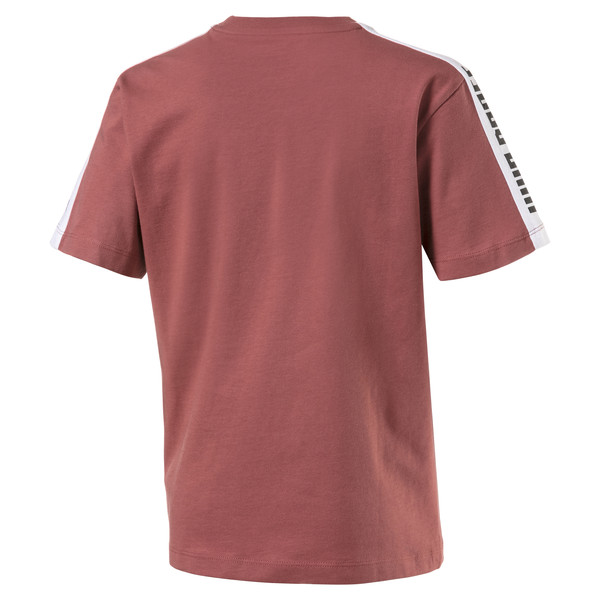 Colour Block Kids' Tee, Marsala, large