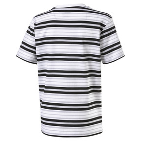 Thumbnail 2 of Striped Kids' Tee, Puma Black-white AOP, medium