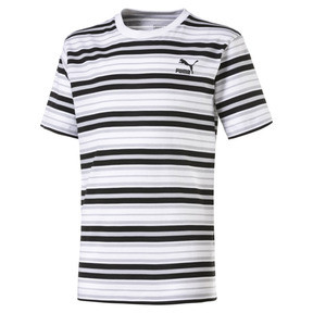Thumbnail 1 of Gestreiftes Kinder T-Shirt, Puma Black-white AOP, medium
