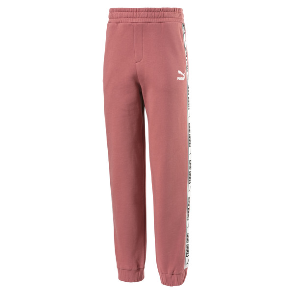 Fleece Kids' Sweatpants, Marsala, large