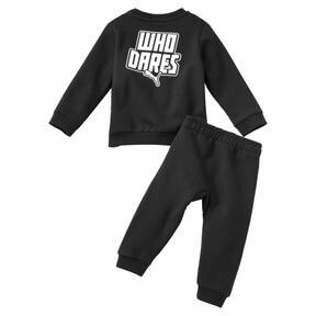 Imagen en miniatura 2 de Conjunto de pantalones deportivos de bebé, Puma Black, mediana