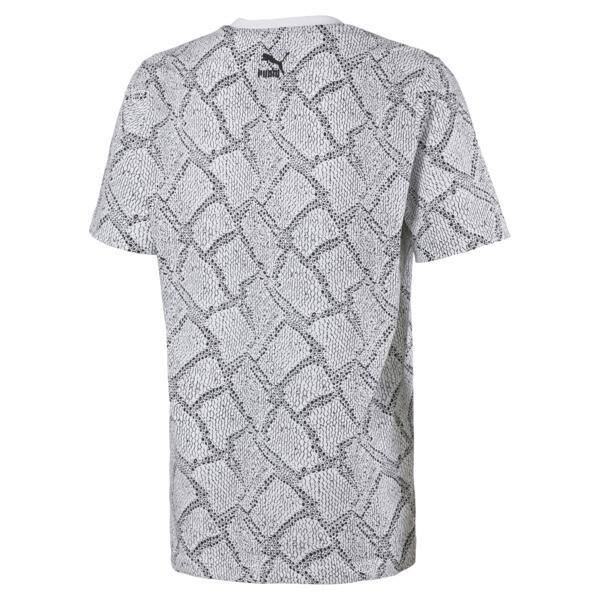 Snake Pack T-shirt met printmotief voor mannen, Puma White-AOP, large