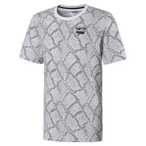 Thumbnail 1 van Snake Pack T-shirt met printmotief voor mannen, Puma White-AOP, medium