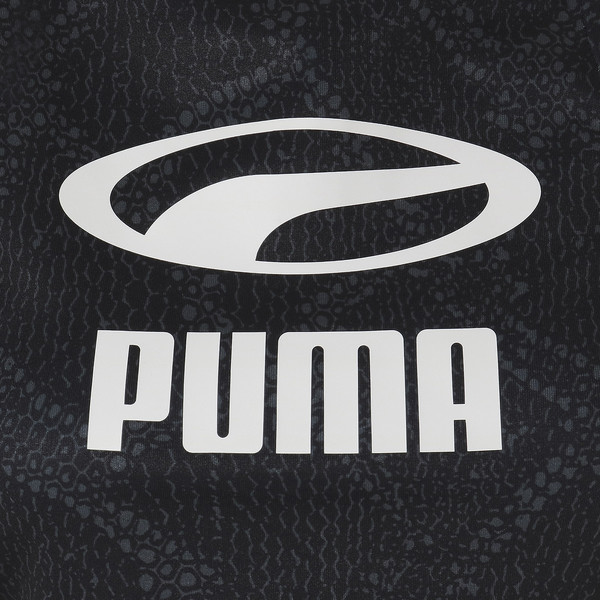SNAKE PACK ウィメンズ クロップド トップ, Puma Black-AOP, large-JPN
