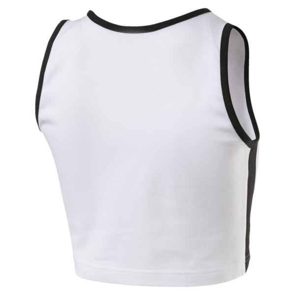 Classics T7 Cropped Women's Tank Top, Puma White, large
