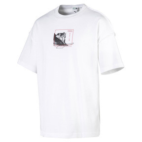 Thumbnail 1 van Rechthoekig Evolution T-shirt met print voor heren, Puma White, medium