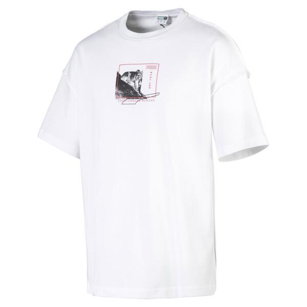 Rechthoekig Evolution T-shirt met print voor heren, Puma White, large