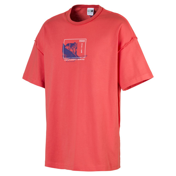 Evolution Boxy Graphic Men's Tee, Paprika, large