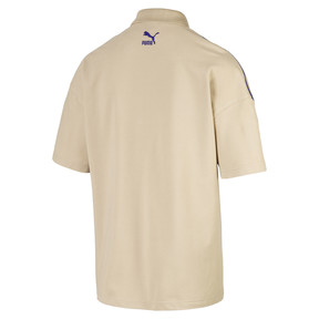 Thumbnail 2 of Evolution Boxy Piqué Men's Polo, Safari, medium