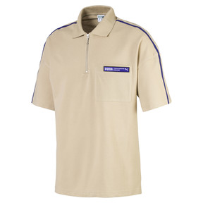 Thumbnail 1 of Evolution Boxy Piqué Men's Polo, Safari, medium