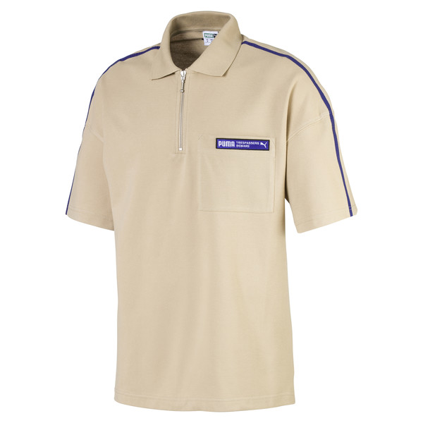 Evolution Boxy Piqué Men's Polo, Safari, large