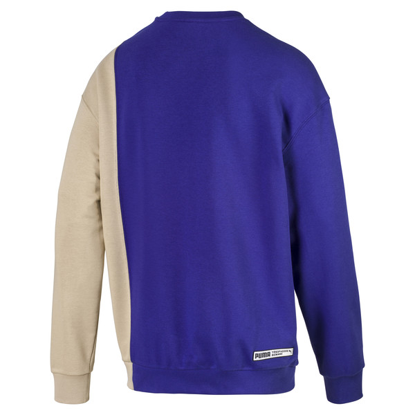 Męski sweter Evolution Split, Kolor Spectrum Blue-Safari, obszerny