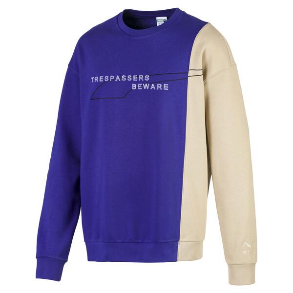 Evolution Split sweater voor mannen, Spectrum Blue-Safari, large