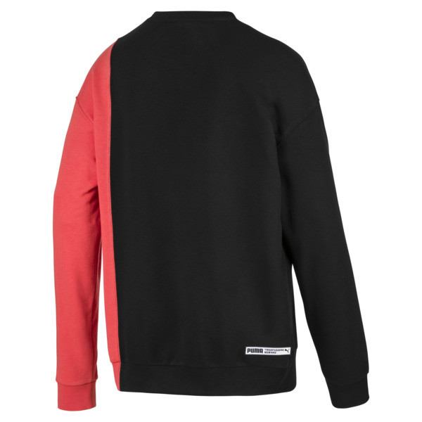 Evolution Split Men's Sweater, Puma Black-Paprika, large
