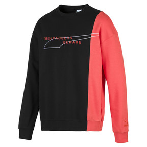 Thumbnail 1 of Evolution Split Men's Sweater, Puma Black-Paprika, medium