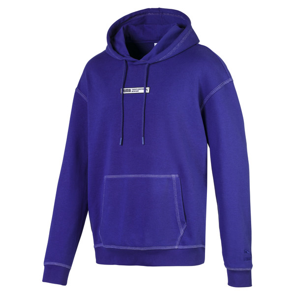 Evolution Boxy Men's Hoodie, Spectrum Blue, large