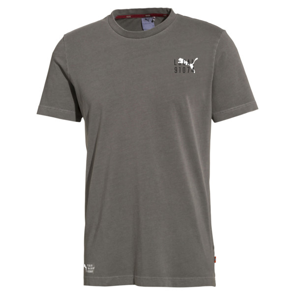 PUMA 91074 Men's Tee, Charcoal Gray, large