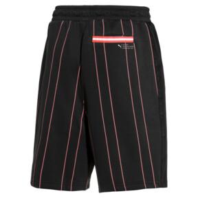 Thumbnail 2 of PUMA 91074 Men's Striped Shorts, Puma Black--AOP, medium