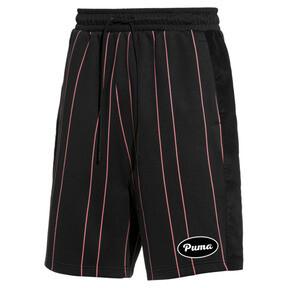 Thumbnail 1 of PUMA 91074 Men's Striped Shorts, Puma Black--AOP, medium