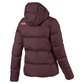 Thumbnail 5 of Essentials 400 Down Hooded Women's Jacket, Vineyard Wine, medium