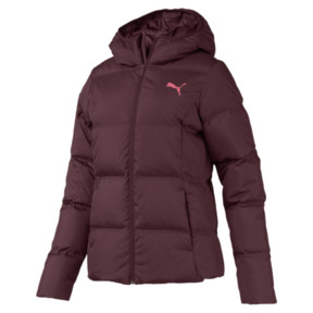 Thumbnail 4 of Essentials 400 Down Hooded Women's Jacket, Vineyard Wine, medium