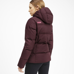 Thumbnail 2 of Essentials 400 Down Hooded Women's Jacket, Vineyard Wine, medium