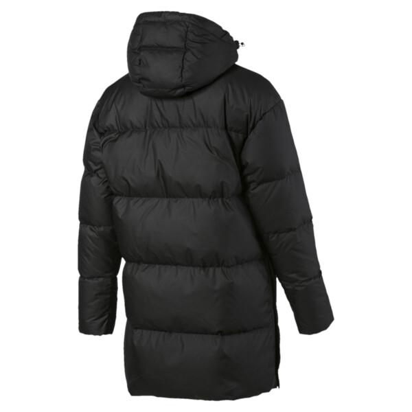 450 Damen Langer Daunenmantel mit Kapuze, Puma Black, large