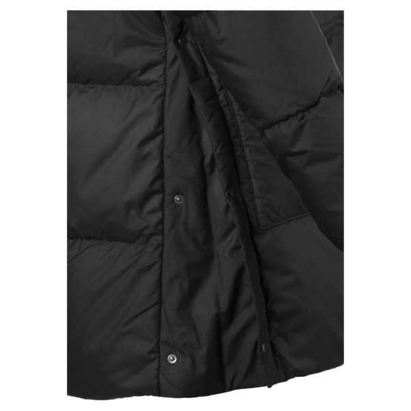 450 Long Hooded Down Women's Coat, Puma Black, large