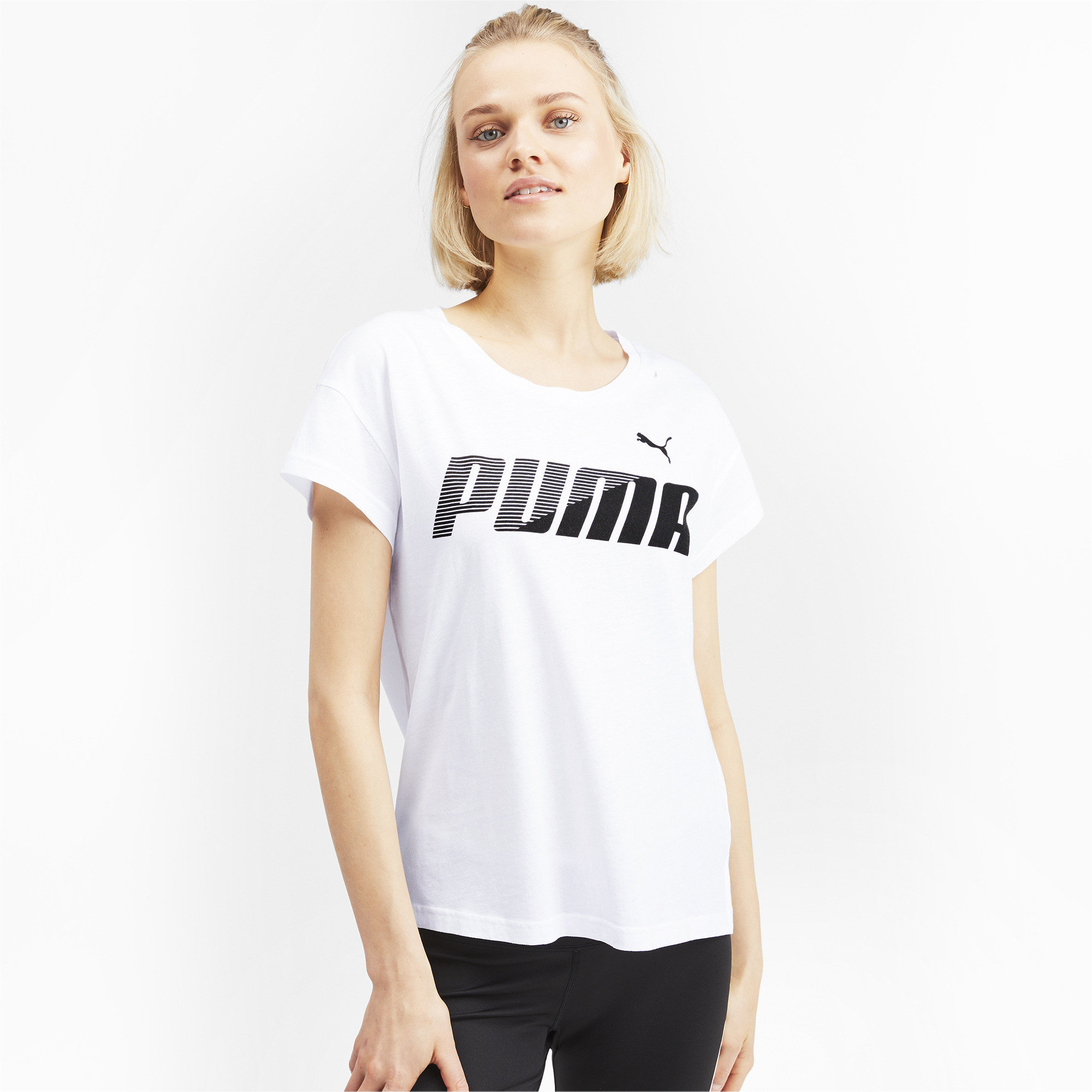 PUMA-Modern-Sports-Women-039-s-Graphic-Tee-Women-Tee-Basics thumbnail 9