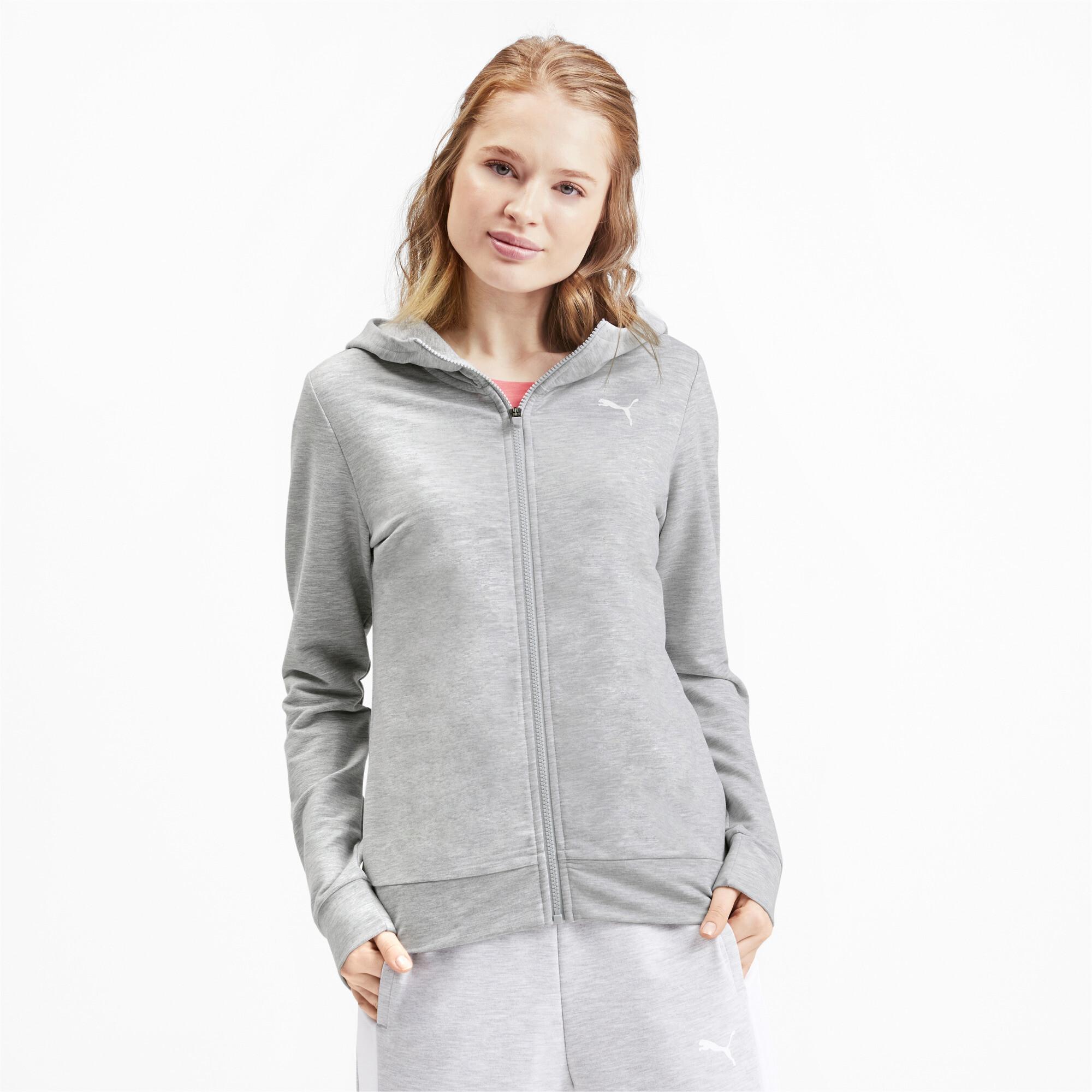 PUMA-Women-039-s-Modern-Sports-Full-Zip-Logo-Hoodie thumbnail 4