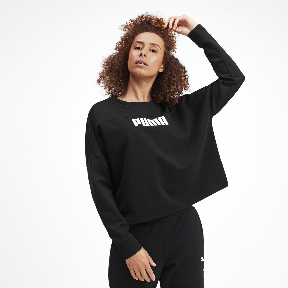 Image Puma NU-TILITY Cropped Crew Women's Sweater #2