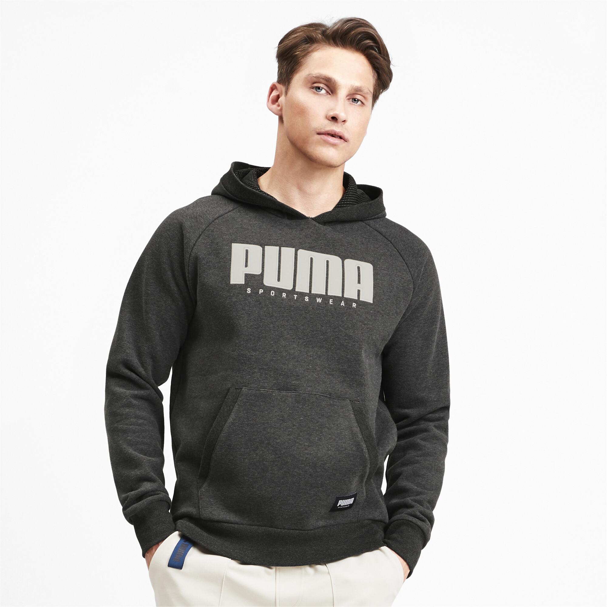 PUMA-Athletics-Men-s-Fleece-Hoodie-Men-Sweat-Basics thumbnail 4