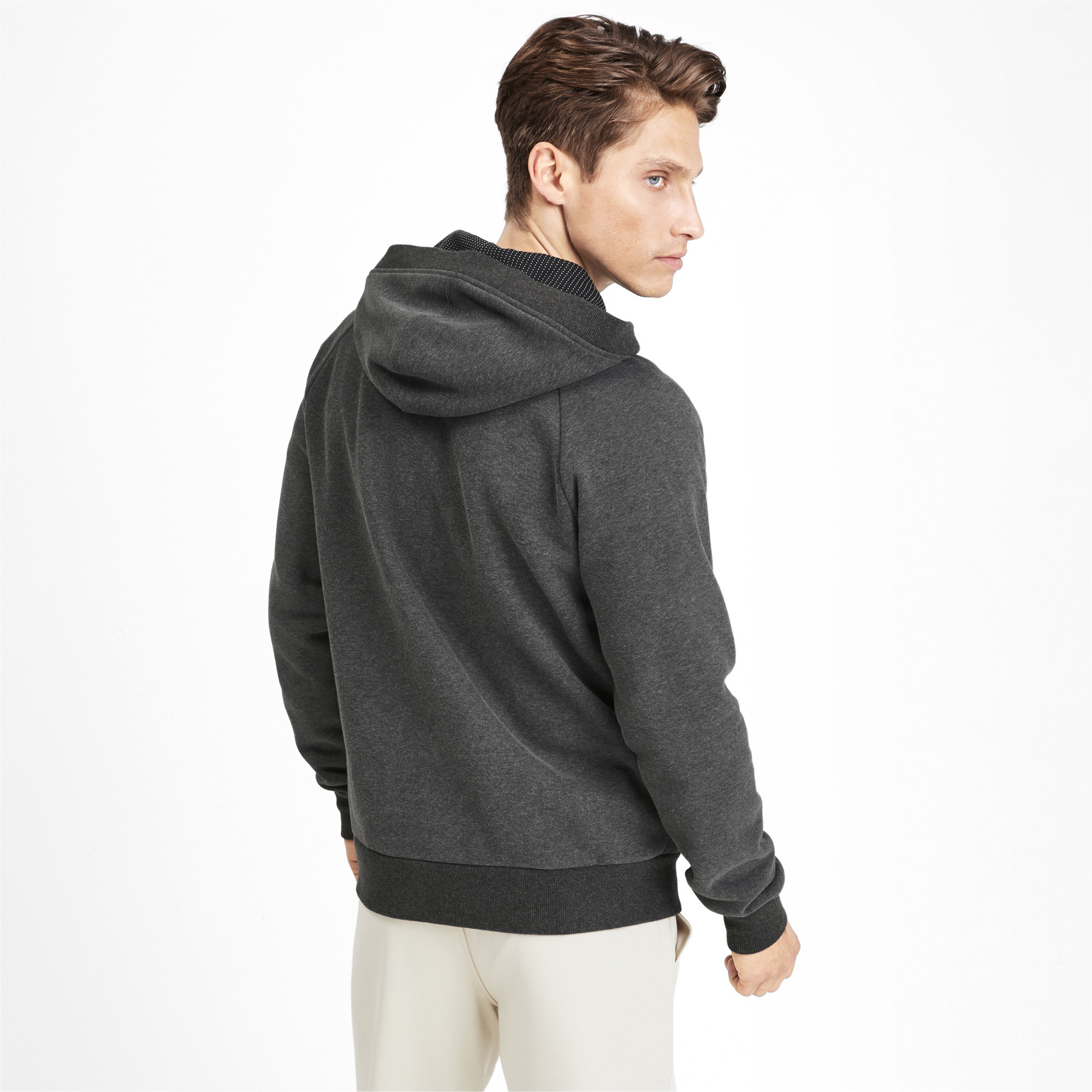PUMA-Athletics-Men-039-s-Full-Zip-Fleece-Hoodie-Men-Sweat-Basics thumbnail 5