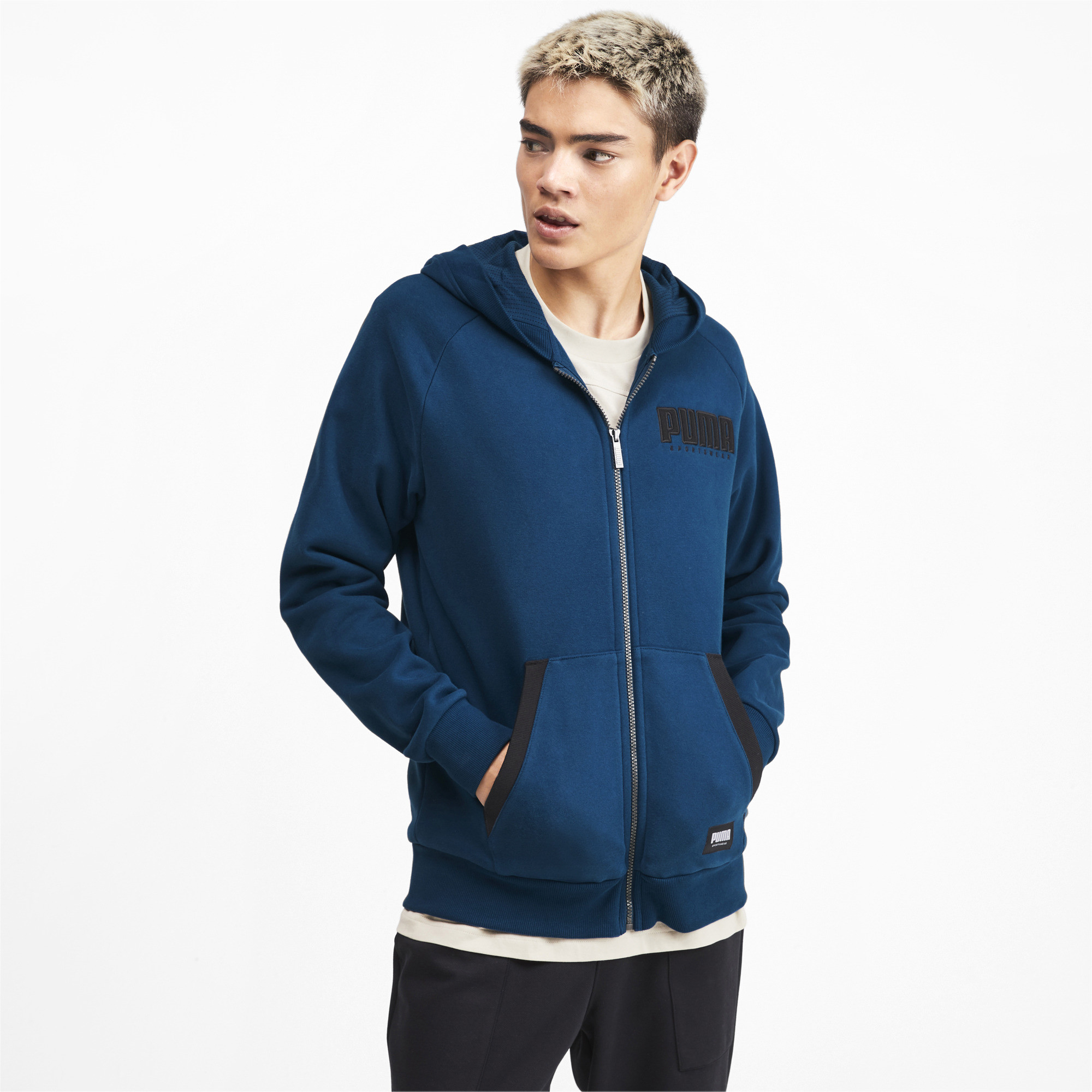 PUMA-Athletics-Men-039-s-Full-Zip-Fleece-Hoodie-Men-Sweat-Basics thumbnail 9