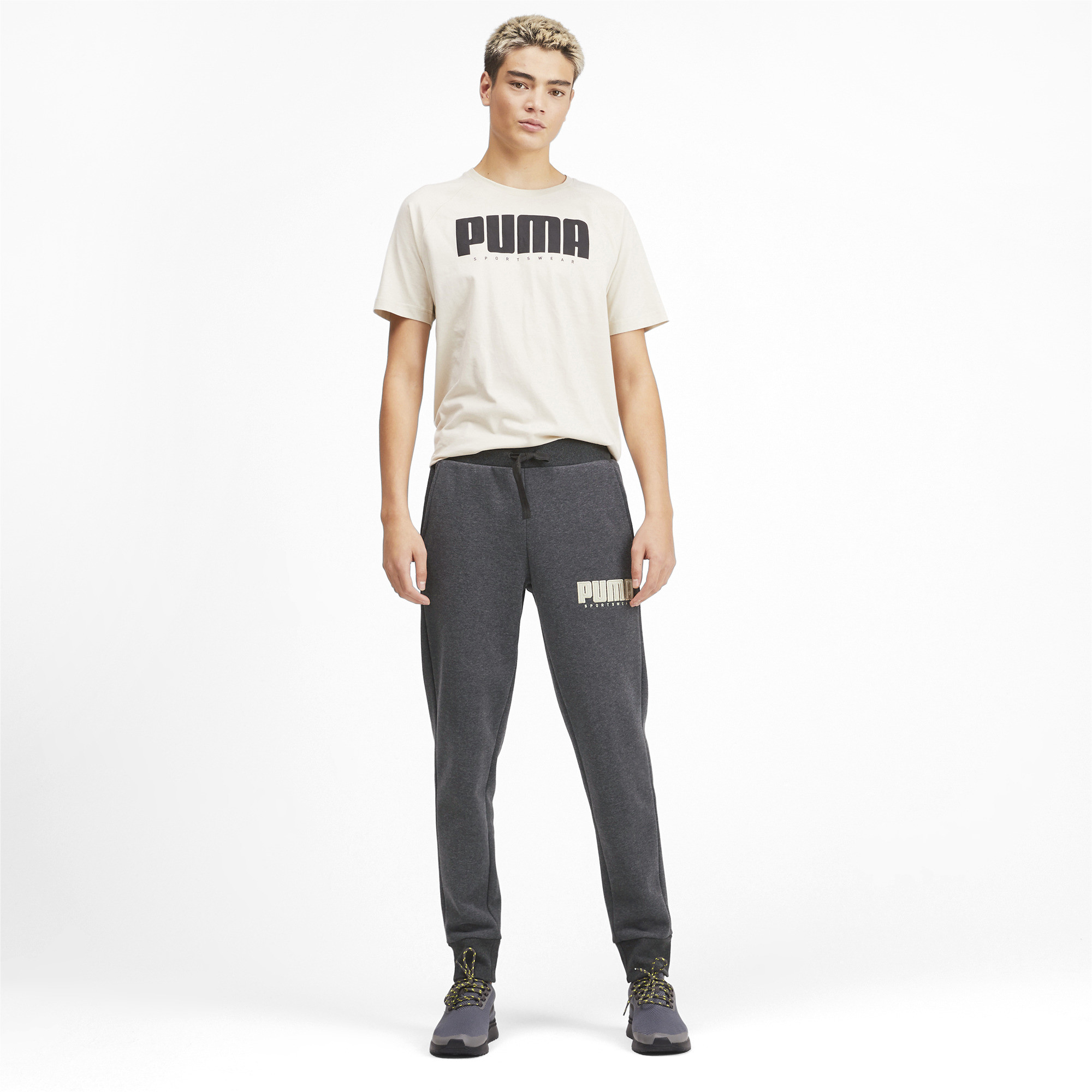 PUMA-Athletics-Men-039-s-Fleece-Pants-Men-Knitted-Pants-Basics thumbnail 6