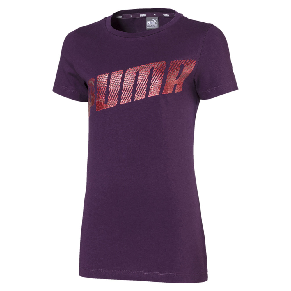 Image Puma Alpha Logo Short Sleeve Girls' Tee #1