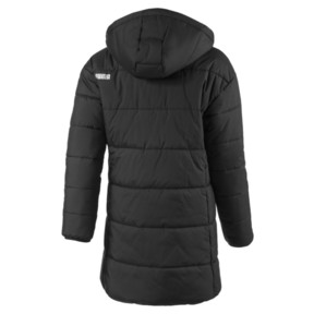 Thumbnail 2 of Hooded Girls' Padded Jacket, Puma Black, medium