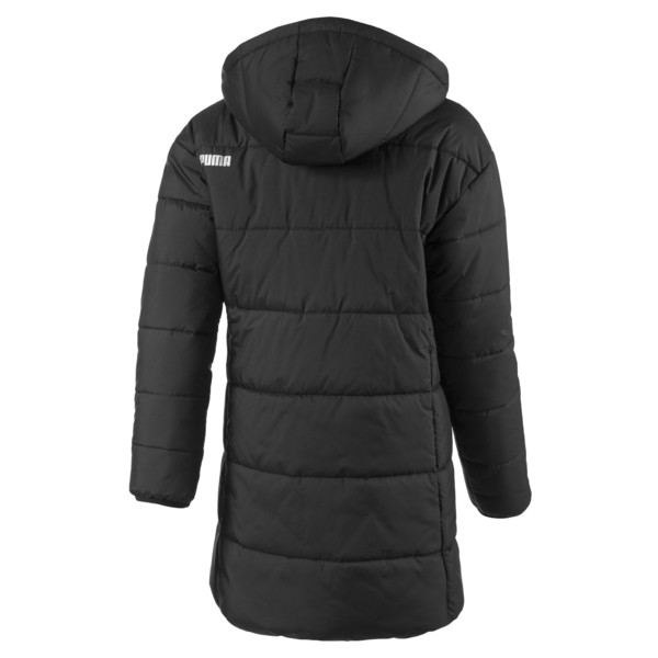 Hooded Girls' Padded Jacket, Puma Black, large